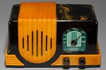 Addison 2 Catalin 'Waterfall' Radio in Dark Green + Butterscotch