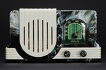 Addison 2  Bakelite Radio in Marbled Navy Blue + White Art Deco