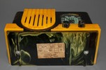 "Addison 2 ""Waterfall"" Catalin Art Deco Radio in Dark Green + Butterscotch"
