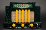 Addison 5 Catalin Radio 'Courthouse' Dark Green + Yellow - Stunning