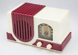 Plaskon Addison 2 Radio in White with Waterfall Raspberry Trim