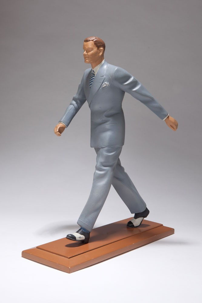 Art Deco Shoe Advertising Character - Stylish Metal Figure