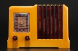 Arvin 532 Catalin Radio in Yellow with Tortoise Trim