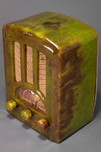 Catalin AU-190 Emerson Radio in Marbleized Green - Stunning Tombstone