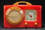 "Catalin Motorola Radio 50XC-1 ""Circle-Grille"" - Marbleized Red + Yellow"