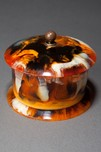 "Beautiful Catalin Bakelite Box in Rare ""End of Day"" Color"