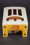 "Emerson BT-245 Catalin Radio Alabaster + Plum ""Tombstone"""