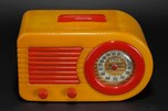 FADA 1000 Insert Grill 'Bullet' Catalin Radio Butterscotch + Red - Rare