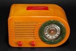 Rare Catalin FADA 'All-American' Bullet Radio Series 200 - Red, White + Blue