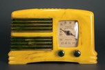 Detrola 281 Catalin Radio 'Split Grille' in Pistachio with Blue Trim - Rare
