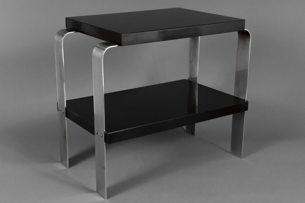 Sleek Art Deco Side Table By Donald Deskey Circa Late