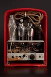 Emerson AU-190 Tomato Red Catalin Tombstone Radio