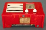"Red Catalin 1938 Emerson AX-235 ""Little Miracle"" Art Deco Radio"