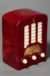 Oxblood Red Emerson BT-245 Catalin 'Tombstone' Radio