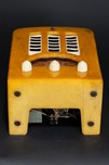 "Emerson BT-245 Catalin ""Tombstone"" Radio in Yellow + Ivory"