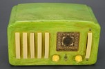 "Emerson EP-375 ""5+1"" Green Catalin Art Deco Radio"