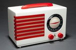 "Emerson ""Patriot"" 400 Catalin Radio in White Norman Bel Geddes Art Deco Design"