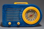 FADA 1000 'Bullet' Catalin Radio in Blue + Yellow w/ Great Marbling