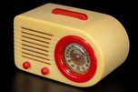 FADA 1000 Catalin Radio 'Bullet' Yellow + Marbleized Bright Red
