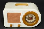 "FADA 1000 Radio Catalin ""Bullet"" in Alabaster + Onyx Open-Face"