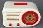 "Rare Pre-War FADA 115 ""Bullet"" Catalin Radio - White + Red"