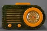 FADA 200 Series 'Bullet' Catalin Radio in Marbelized Blue + Yellow