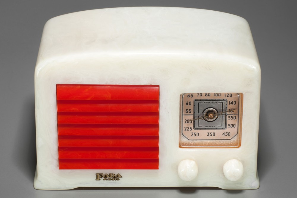 FADA 53 Catalin Radio in Alabaster with Red Grill