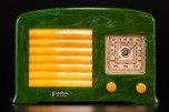 Rare FADA Model 53 Catalin Radio in Emerald Green + Butterscotch