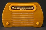 "Fada Catalin 652 ""Temple"" Radio in Onyx with Yellow"