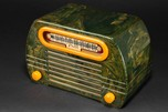 "FADA 652 ""Temple"" Catalin Radio in Blue + Butterscotch w/ Great Marbling"