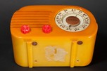 Fada 700 'Cloud' Catalin Radio in Butterscotch with Red