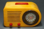 "Rare FADA ""All-American"" Catalin Bullet Radio Series 200 - Red, White + Blue"