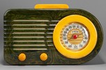 FADA 1000 'Bullet' Catalin Radio in Blue + Yellow