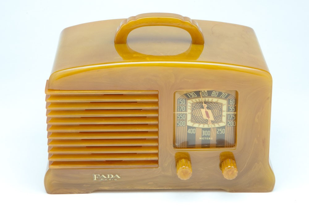FADA Catalin L-56 Radio in Incredible Translucent Onyx - All Original