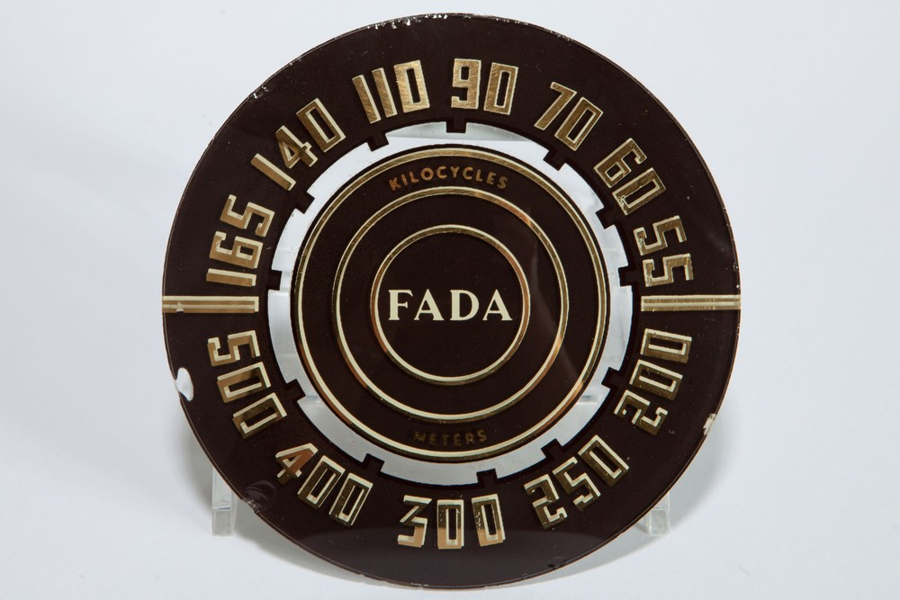 FADA 845 Bakelite Radio Dial Face - Original Glass Part