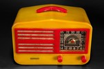 Garod 1450 Catalin 'Peak-Top' Radio in Butterscotch + Red