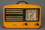 "Garod 1450 Catalin ""Peak-Top"" Radio in Butterscotch + Blue"