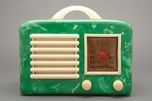 General Television Art Deco Marbled Green + Ivory Bakelite Radio