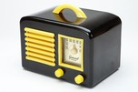 General Television Art Deco Black + Yellow Bakelite Radio