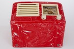 General Television Radio in Red Marbled Bakelite - Rare + Stunning