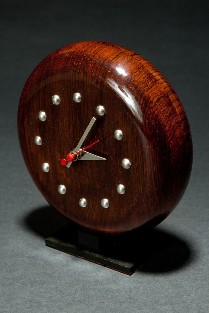 Art Deco Gilbert Rohde Brazilian Rosewood 4738-D Clock Herman Miller