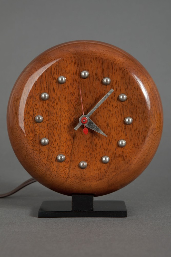 Art Deco Gilbert Rohde Walnut 4738 Clock Herman Miller
