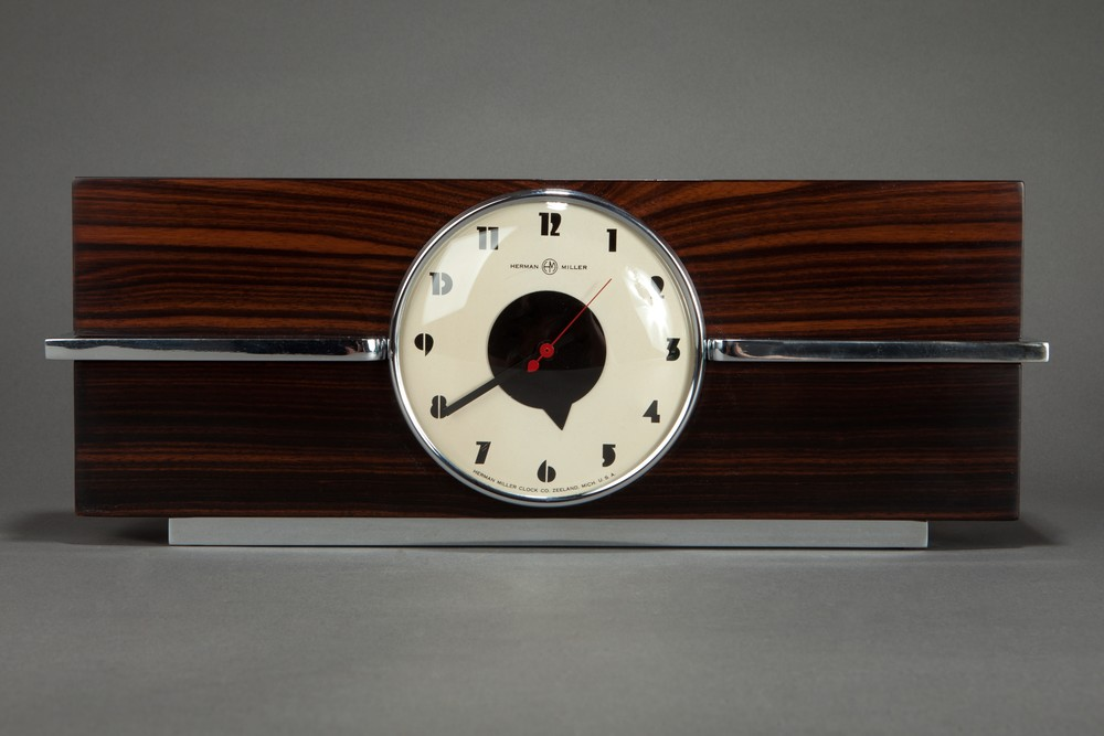 Gilbert Rohde Clock 6366 for Herman Miller American Art Deco Design