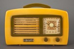 "Knight ""Coronet"" KM Art Deco Yellow + Olive Green Catalin Radio"