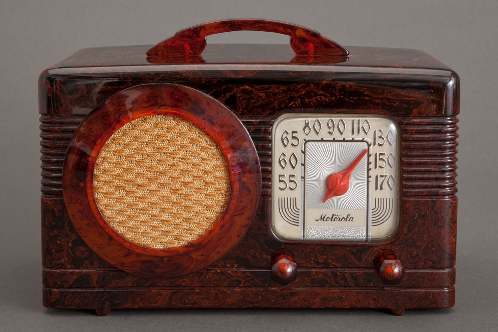 "Art Deco Motorola 50XC Tortoise ""Circle-Grill"" Catalin Radio"