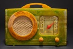 Rare Motorola 50XC Radio 'Circle-Grill' - Marbleized Green + Yellow Catalin