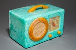 Motorola 50XC Catalin Radio Turquoise + Yellow 'Circle-Grill'