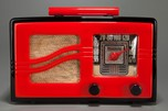 Motorola 51x15 'S-Grill' Catalin Radio - Red + Black Art Deco Beauty