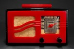 Motorola Catalin Radio 51x15 'S-Grill' Red + Black Art Deco Beauty