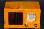 Catalin Motorola 52 'Vertical Grill' Radio - Marbleized Sand + Tortoise